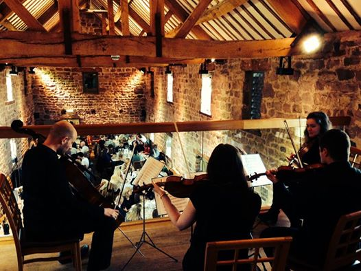 Quartet in a barn venue